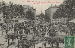 26 - Romans (Drôme) Place Jacquemart Et Côte Sainte-Ursule - Marché Aux Chevaux - Romans Sur Isere