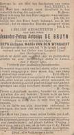 ABL , De Bruyn Geboren Te Aalst 1891 - Leuven 1919 , Motocycliste - Obituary Notices