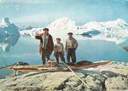 Chasseurs Indigènes Groenland-Greenland-Arctique-GODTHAB-Timbre-Stamp-Briefmarken-1959-Publicité-Pharmacie-Pentothal - Gebraucht
