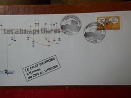 FRANCE  - Timbre Seul Sur Lettre Sourires Le Chat De Geluk N°3827 (oblitération Du 1-2-avril 2006) - 1961-....