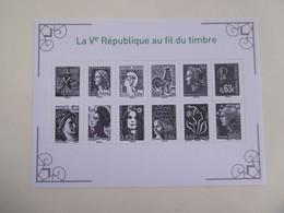 FRANCE 2013  F4781 * *   P4781/4792   BLOC LA V REPUBIQUE AU FIL DU TIMBRE - Nuovi