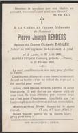 ABL, Renders Né à Lasne 1883 , Décédé à Cabourg Près De La Panne En 1918 - Obituary Notices