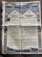 MAROC - RABAT 1918 - GOUVERNEMENT IMPERIAL DU MAROC, PROTECTORAT FRANCAIS - EMPRUNT 5% , OBIGATION 500 FRS - Non Classificati