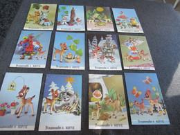 12 Postkaarten Bruynooghe 's Koffie Walt Disney - Unclassified