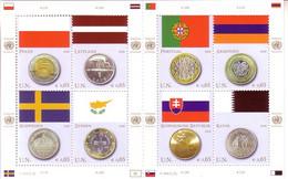 UNO WIEN FLAGGEN KLEINBOGEN 2008 MI-NR. 530-537 POSTFRISCH(MINT) FLAGGEN Und MÜNZEN(III) - Blocchi & Foglietti