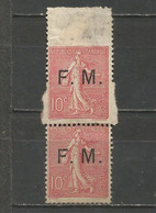 France - Franchise Militaire N°4 (*) - Curiosité De Dentelure - Curiosities: 1950-59 Mint/hinged