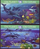 UNO WIEN BLOCK 26-27 POSTFRISCH(MINT) 50 JAHRE INT. OZEANOGRAPHISCHE KOMMISSION 2010 FISCHE SCHILDKRÖTE DELFIN - Blocchi & Foglietti