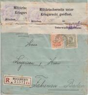 Rumänien - 50+15 B. Karl I. Perfin Einschreibebrief Bukarest - Fahrnau 1916 - Zonder Classificatie