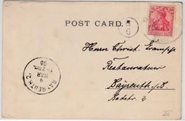 DR - 10 Pfg. Germania, Karte/Seepost V. Monrovia/LIBERIA - Bayreuth 1905 - Otros (Mar)