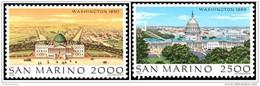 San Marino 1989 - MNH ** - Paysages - Michel Nr. 1430-1431 Série Complète (smr171) - Neufs