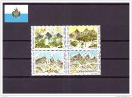San Marino 2001 - MNH ** - 1700º Anniversario Della Fondazione Di San Marino - Unificato Nr. 1815-1818 Serie Comple - Neufs