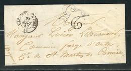 FRANCE 1850 Marque Postale Taxée De Villaines La Juhel - 1849-1876: Classic Period