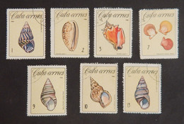 """CUBA YT 1009/1015 OBLITERES """"COQUILLAGES"""" ANNÉE 1966 - Used Stamps"""