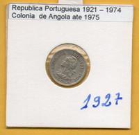 COLÔNIAS PORTUGUESAS - ANGOLA 5 Centavos(1 Macuta) Alpaca Ano 1927 (R-AG-01.01) - Angola