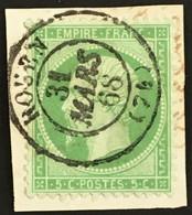 YT 20 CaD Rouen Seine-Inférieure 31.03;1868 (°) Obl 1862 Non Lauré, 5c Vert TTB (10 Euros) France – Fggy - 1862 Napoléon III