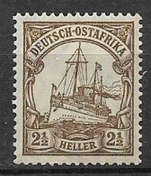 GERMANIA REICH 1906-19  COLONIA  AFRICA ORIENTALE TEDESCA SERIE ORDINARIA VALUTA IN HELLER YVERT. 30 MLH VF - Colony: German East Africa