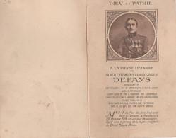 ABL , Defays , Né à Lille ,Lieutenant Au 4e Régiment D'artillerie , Bellem 1918 - Todesanzeige