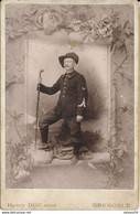 CABINET : Portrait D'un Chasseur Alpin (30eme) Par Henry DUC à Grenoble (Ca 1890-1900) (BP) - War, Military