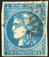 YT 46B LGC TTB (°) 1870-71 Bordeaux 20c Type III R2 (25 Euros) France – Ciel - 1870 Bordeaux Printing