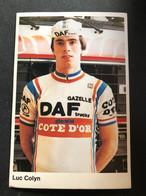 Luc Colyn - DAF - 1981 - Carte /  Card - Cyclists - Cyclisme - Ciclismo -wielrennen - Cycling