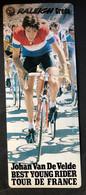 Johan Van Der Velde - TI Raleigh - 1980 - Carte /  Card - Cyclists - Cyclisme - Ciclismo -wielrennen - Cycling