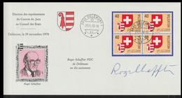 Switzerland Cover 1978 Election Des Representants Du Canton Du Jura A Conseil Des Etats Posted Delemont 1978 (LG20) - Briefe U. Dokumente