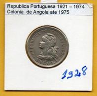 COLÔNIAS PORTUGUESAS - ANGOLA 4 Macutas (20 Centavos) Alpaca Ano 1928 (R-AG-03.02) - Angola