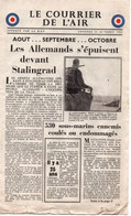 COURRIER DE L AIR 1942 PRESSE RESISTANCE PROPAGANDE FFL RAF - 1939-45