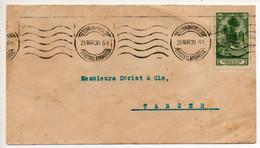 1930 Spanish Morocco Envelope From Tetuan To Tangier - Sonstige