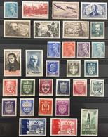 1942 (*) MH Année Complète 1942 YT 538 à 567 - 30 Valeurs Neufs (côte 55 Euros) France – Kr2lot - 1940-1949