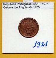 COLÔNIAS PORTUGUESAS - ANGOLA 1 Centavo Bronze Ano 1921 (R-AG-04.01) - Angola