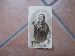 Immagine Sacra Devotion Image S.ta Veronica Giuliani Cappuccina Di Mercatello Cornice Zigrinata Edizioni Eli Dep. N.468 - Devotion Images