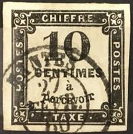 Taxe YT 2 CaD Nantes 27.2.1860 (°) 1859 10c Noir II Typographié Belles Marges Pas D'aminci (20 Euros) France – Flo - 1859-1955 Used