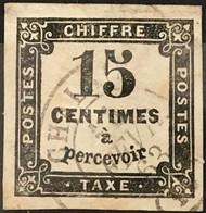 Taxe YT 3 CaD Chalais Charente (15) (°) Obl 1863-70 15c Noir Belles Marges Pas D'aminci (15 Euros) France – Flo - 1859-1955 Used
