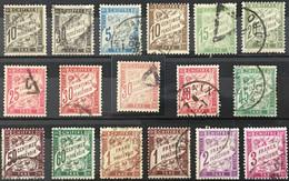 Taxe Duval YT (°) Obl 17 Valeurs 15, 18, 28 à 38 40 40A 42 42A, 1881 à 1935 (côte 127 Euros) France – Flo - 1859-1955 Used