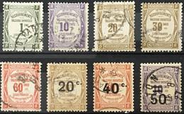 Taxe Valeurs Impayées YT (°) Obl 8 Valeurs 43 à 46 Et 48 à 51 (côte 23 Euros) France – Flo - 1859-1955 Used