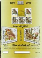 Carte  Anniversaire 1990/2015 1* émission Du 30/09/1985 - 1985-.. Vogels (Buzin)