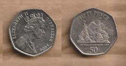 GIBRALTAR  50 Pence - Elizabeth II (Capture Of Gibraltar) 2006  Copper-nickel • 8 G • ⌀ 27.3 Mm KM# 1089 - Gibraltar