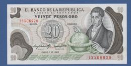 COLOMBIA - P.409d – 20 PESOS01/01/1983 - UNC - Colombia