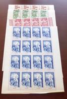 Niger - 1942 - Poste Aérienne PA N°Yv. 6 à 9 - PEIQI - Blocs De 16 Bord De Feuille - Neuf Luxe ** / MNH / Postfrisch - Unused Stamps