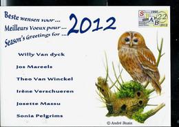 Carte De Voeux (impression Photo ) 2012 - 1985-.. Vogels (Buzin)