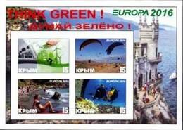 CRIMEA - 2016 - Europa, Think Green - Imperf 4v Souv Sheet - M N H - Private Issue - Ucraina