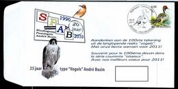 Souvenir 100 émissions Buzin  + Voeux 2011  Obl. 03/01/2011  Canard Pilet - 1985-.. Vogels (Buzin)