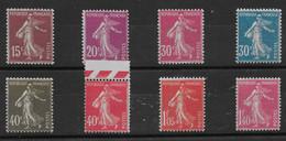 Série De Semeuses N° 189 à 196 ** TTBE - Cote Y&T 2020 De 94,60 € - 1906-38 Sower - Cameo