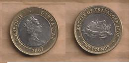 GIBRALTAR 2 Pounds -  (Trafalgar) 2007  • 12 G • ⌀ 28.4 Mm KM# 1073 - Gibraltar