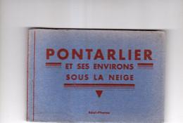 PONTARLIER Et Ses Environs Sous La Neige. Carnet De 12 Cartes - Pontarlier