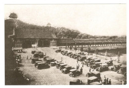 Postcard, China Beijing, Gate Of Devine Might, Vintage Cars See Description - Cina