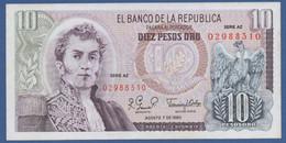 COLOMBIA - P.407h – 10 Pesos Oro 07/08/1980  - UNC Serie AZ - Colombia