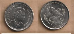 CANADA  25 Cents - Elizabeth II (Saskatchewan) 2005  Nickel Plated Steel • 4.43 G • ⌀ 23.88 Mm KM# 532, Schön# 591 - Gibraltar