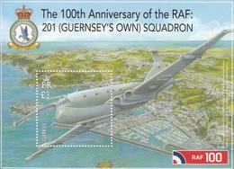 2018 Guernsey RAF Military Aviation Air Force Souvenir Sheet MNH @ BELOW FACE VALUE - Guernsey